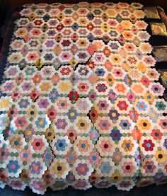Beadlust: Hexie Quilt Top Almost Finished!