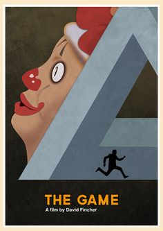 The Game (1997) - Minimal Movie Poster by Jon Glanville #minimalmovieposters #alternativemovieposters #jonglanville
