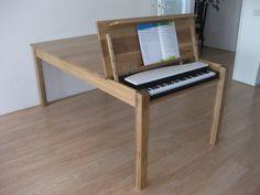 Piano Table, Piano Desk, Piano Room, Dining Table, Studio Desk Music, Home Music Rooms, Boho Room, Interior Design Inspiration, Decoration