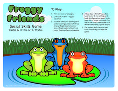 Froggy Friends Social Skills Game: Speech Therapy