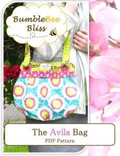free purse patterns   The Avila Bag: A PDF Pattern   BumbleBee Bliss