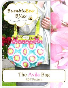 free purse patterns | The Avila Bag: A PDF Pattern | BumbleBee Bliss
