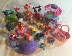 Littlest Pet Shop Palace Pet Mixed Lot Carrier Dog Bed LPS #Hasbro
