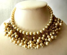 Antique and Gorgeous collier 1950  cascade of by RAKcreations, $124.00