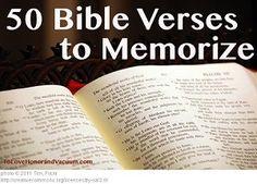 50 Best Bible Verses to Memorize NKJV--Printables