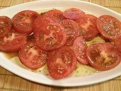 Sliced #Tomatoes w/ #OliveOil & #Balsamic #Vinegar #allkindsofrecipes #testkitchen
