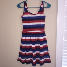 [Francesca's collection] dress Originally purchased from Francesca's collection, size small. Great condition other than pilling. Dark navy, blue, red and white colors. Wore for the Fourth of July. Let me know if you have any questions (: Francesca's Collections Dresses