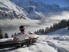 #Murren #Switzerland. Murren Switzerland, Us Travel, Winter Wonderland, Mount Everest, Skiing, Beautiful Places, To Go, Snow, Adventure