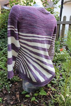 Stripes gone crazy by atelier alfa. malabrigo Sock in Lotus and Natural