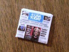 Dollar Store Crafts » Blog Archive » Make a Miniature Dollhouse Newspaper