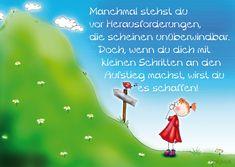 """Postkarte """"Herausforderungen- kleine Schritte"""""""""""