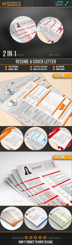 2 Resume & Cover Letter Templates PSD