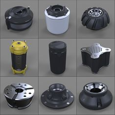 Hard Surface Kitbash Library - Canisters/Knobs/Bolts, Mark Van Haitsma on ArtStation at https://www.artstation.com/artwork/Wdzqv