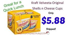 Great deal on a cheap lunch! Get Kraft Velveeta Original Shells n Cheese Cups for only $0.73 each! Get the 8 Cups package for only $5.88 shipped! What a deal!  Click the link below to get all of the details ► http://www.thecouponingcouple.com/kraft-velveeta-original-shells-n-cheese-cups/ #Coupons #Couponing #CouponCommunity  Visit us at http://www.thecouponingcouple.com for more great posts!
