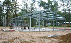 The steel building homes industry continues to grow as more people learn how energy efficient and durable metal houses are. We feature the best residential architecture designs and architects around the US. Home Building Kits, Metal Building Kits, Steel Building Homes, Building A House, Pole Barn House Kits, Pole Barn Homes, Barn Houses, Steel Frame House, Steel House