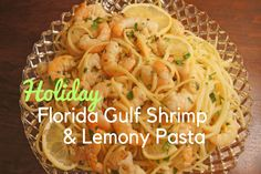 Try this Florida Gulf Shrimp and Lemony Pasta recipe for ultimate holiday comfort dish that is simple to make, full of flavor and filled with fresh Florida seafood. And did we mention super delicious?