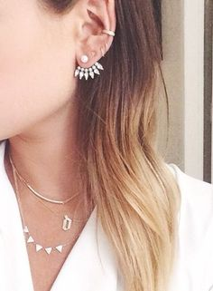 Statement earring and assorted