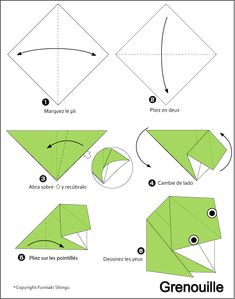 origami grenouille papertoyz pinterest origami. Black Bedroom Furniture Sets. Home Design Ideas