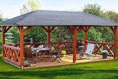 Pavillon aus Holz