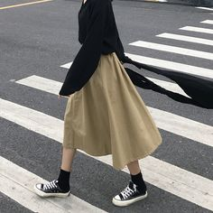 Relipop Women's Flared Short Skirt Polka Dot Pleated Mini Skater Skirt with Drawstring Modest Fashion, Skirt Fashion, Neutral Outfit, Friend Outfits, Fashion Poses, Korean Outfits, Aesthetic Clothes, Types Of Fashion Styles, Minimalist Fashion