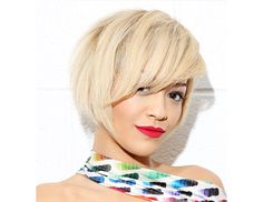 @byrdiebeauty - Rita Ora The singer's chin-grazing chop is balanced by sweeping bangs, for an edgy, feminine look that anyone could pull off.