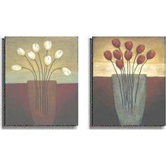 Eve Shpritser 'Tulips Aplenty' 2-piece Canvas Art Set 45 8x10