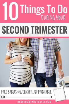 Are you entering your second trimester of pregnancy?  Check out this helpful list of 10 things to do during this exciting time to prepare for baby's arrival! via @hearthometravel