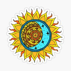 Sun And Moon Mandala, Cute Laptop Stickers, Art Prints, Artist, Design, Tattoo, Printed, Awesome, Products