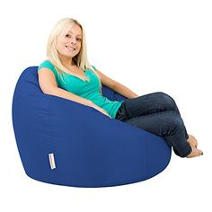 Bean Bag BazaarR Panelled XL Chair Indoor Outdoor BLUE