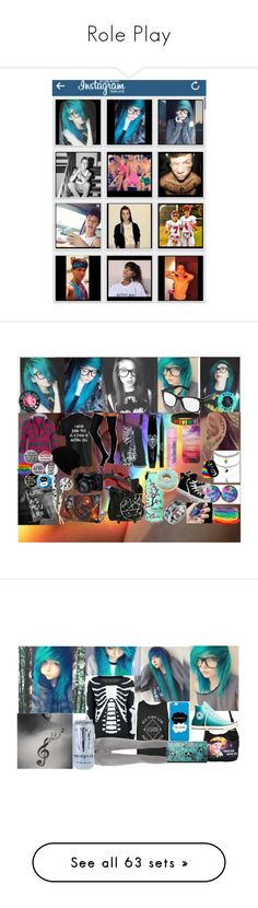 """""""Role Play"""" by nerdy-emo-girl ❤ liked on Polyvore featuring art, Hot Topic, Charlotte Russe, Tag, Hot from Hollywood, ASOS, Converse, Stila, KBETHOS and Humör"""