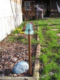 DIY garden hose guides from PVC Things 4 GARDEN LAWN