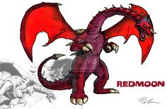 Redmoon... A cancelled Godzilla monster from a cancelled Godzilla film. Man I wish he would appear in a G film.