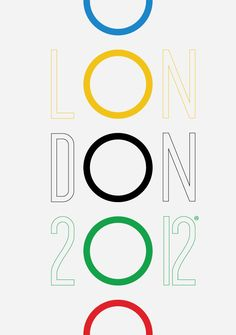 2012 London Olympics poster (unofficial art work) - 2012 London Olympics poster (unofficial art work) by Viktor Hertz 2012 London Olympics poster (unof - Typography Letters, Typography Design, Lettering, Graphisches Design, Print Design, Modern Design, Olympic Logo, Funny Commercials, Commercial Ads