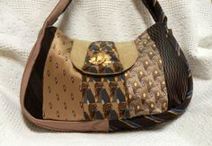 purses made from mens neckties | similar to Vintage Men's Necktie Purse made from recycled men's ties ...
