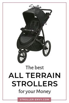All terrain strollers are must haves for active parents who want to fit babysitting duties into their jogging or workout! Check out our review on the best and most affordable all terrain strollers. Their swivel front tires also make them handy when you need to maneuver tight corners and hallways. Find the best one for your baby or toddler with out guide. #babygear #parenting101 #forbabies #parentingtips #newmoms #beststrollers #joggingstrollers