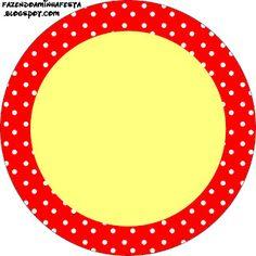 Poa rojo y amarillo - kit completo con los marcos para las invitaciones, las etiquetas de los dulces, recuerdos e imágenes! - Realización de mi partido