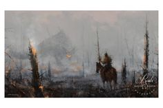 "Last of the Wooden Knights • Illustrated by Jakub ""Mr. Werewolf"" Rozalski • Archival pigment print • Printed on Hahnemühle Fine Art Baryta 325 GSM fiber paper •"