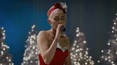 """Miley Cyrus Singing """"Silent Night"""" Will Instantly Put You In the Holiday Spirit Silent Night, Teen Vogue, Miley Cyrus, Singing, Spirit, Formal Dresses, Concert, Holiday, Fashion"""