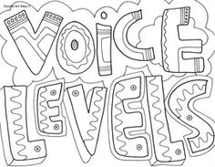 Noise Levels Coloring Pages For The Classroom