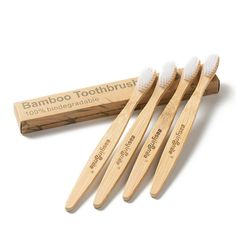 Easyinsmile Biodegradable Eco-Friendly Bamboo Toothburshes Plant-Based BPA-Free Soft Bristles Available in Size for Adults and Kids (Bamboo charcoal) Biodegradable Products, Clothes Hanger, Plant Based, Brushes, Tooth, Tape, Essentials, Handle, Organic