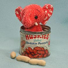 Pamela the Pachyderm  Mohair Anime jointed Artist Teddy Bear Friend  Animal vintage tin. $65.00, via Etsy.