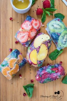 Tropical Fruit Spring Rolls pinterest: Annie L Hayes @wildthingsaree