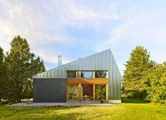 OOPEAA's Anssi Lassila demolished a family house on this site in Soini, Finland, and reused the brick, now painted, for a larger structure with triple glazing. Residential Architecture, Interior Architecture, Tiny House, Steel Barns, Interior Design Magazine, Modern Barn, House Design, House Styles, Seasons
