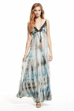 12287e00f2 Diana Sequin Silk Dress Tie Dye Maxi