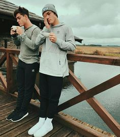 Dolan twins looking cute by the water