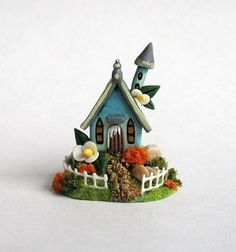 Miniature Charming Small Blue Fairy Whimsy by ArtisticSpirit