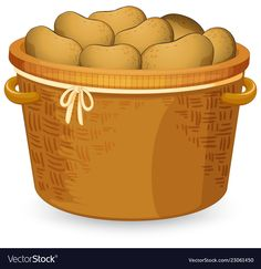 A basket of potato vector image on VectorStock Fruits And Veggies, Vegetables, Health And Fitness Magazine, Cake Banner, Recipe Binders, Bible Prayers, Good Notes, Some Ideas, Vector Stock