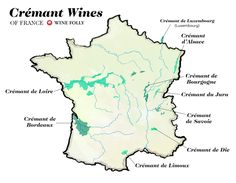 Cremant wines of France Illustrated wine map by Wine Folly