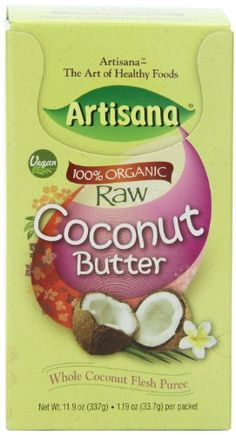 Artisana  Organic Raw Coconut Butter, 1.06 Ounce Packets (Pack of 10) - http://goodvibeorganics.com/artisana-organic-raw-coconut-butter-1-06-ounce-packets-pack-of-10/