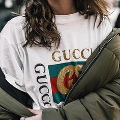 c9c9423a 15 Best Gucci tee images | Woman fashion, Gucci tee, Moda femenina